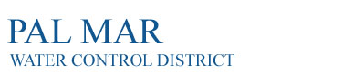 Pal Mar Water Control District Logo